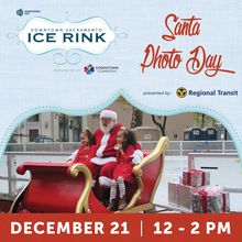 Santa Photo Day at Downtown Sacramento Ice Rink