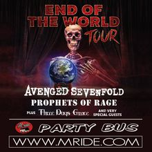 Avenged Sevenfold San Francisco Shuttle Bus - Concord Pavilion