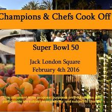 Champions and Chefs Super Bowl 50