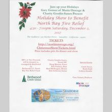 Holiday Jazz Dinner Show to Benefit North Bay Fire Relief Fund