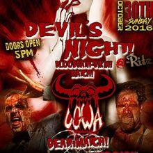 UGWA Devil's Night 12 featuring the Blood-bath Bikini Match