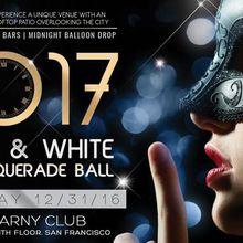 Black & White NYE Masquerade Ball 2017
