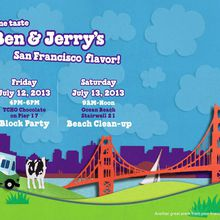 Ben & Jerry's Free Scoops - Block Party and Beach Clean-up