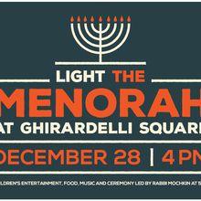 Light the Menorah at Ghirardelli Square on December 28