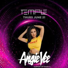 Kicking off Pride Weekend at Temple this Thursday feat. Angie Vee