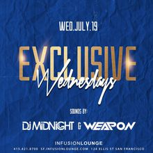 DJ Midnight & DJ Weapon at #ExclusiveWeds