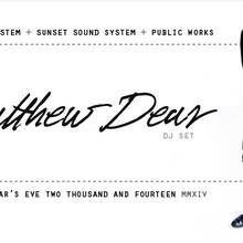 New Year's Eve with Matthew Dear