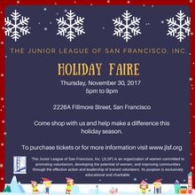 The Junior League of San Francisco Holiday Faire