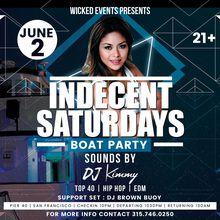 Indecent Saturdays Boat Party