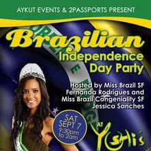 BRAZILIAN Independence Party | SAT. Sept 7 | YOSHI'S