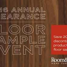 Room & Board's Annual Clearance & Floor Sample Event