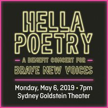 """Youth Speaks Presents: """"Hella Poetry"""" A Benefit for Brave New Voices International Youth Poetry Slam"""