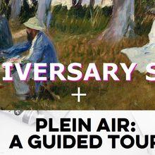 Anniversary Sale + Plein Air Acrylic Demo