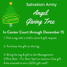 BAYFAIR CENTER FULFILLS CHILDRENS' HOLIDAY WISH LISTS WITH SALVATION ARMY ANGEL GIVING TREE