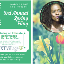 NEXT Village SF -Spring Fling Fundraiser Featuring Paula West