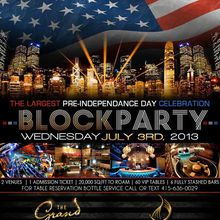 PRE-INDEPENDENCE DAY BLOCK PARTY