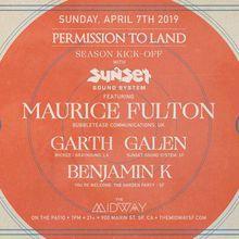 Permission To Land Season Kick-Off w/ Sunset Sound System