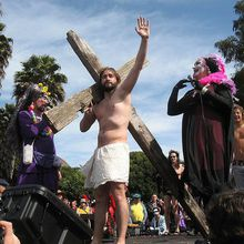 Hunky Jesus, Easter in Hellman Hollow Golden Gate Park