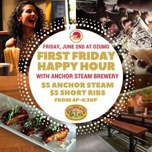 Anchor Steam and $5 Ribs | First Friday Happy Hour