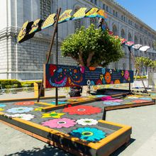 Village Artist Corner Activation: The Giving Wall