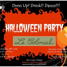 Halloween Party with Crystal Head Vodka Presented by Le Colonial Lounge