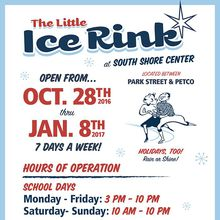 The Little Ice Rink Opening at Alameda South Shore Center on October 28