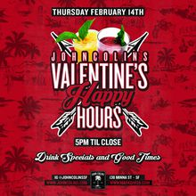 John Colins Valentine's Happy Hours
