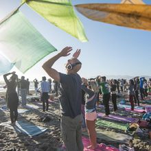 Fall Equinox: Sunset Beach Yoga + Silent Disco Dance Party!