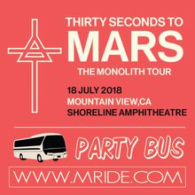 Thirty Seconds to Mars - Shoreline Amphitheater Shuttle Bus