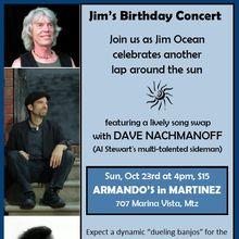 Armando's Presents Jim Ocean's Birthday Concert at Armando's in Martinez