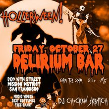 Hollerween Friday @ Delirium Bar SF | Music Video Party
