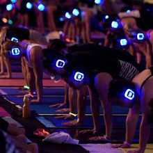 Silent Disco Pilates Class on the Beach