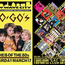 2 for 1 admission to New Wave City March 17 Ladies of the 80s Night