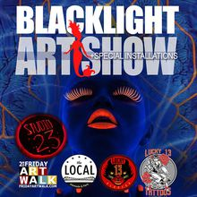 Halloween Blacklight Art Show