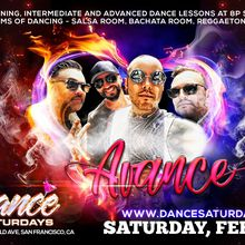 Dance Saturdays Bash - Live Salsa with AVANCE, Bachata y Latin Mix Loft, Dance Lessons at 8:00p