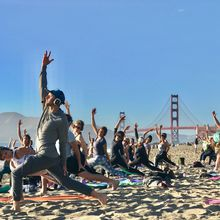sunset [silent disco] beach yoga with Nat Kendall + Live DJ Avani
