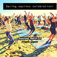 Spring Equinox: Sunset Beach Yoga + Silent Disco Dance Party!
