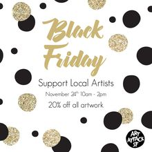 Black Friday at Art Attack SF!