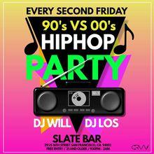 90's VS 00's Hip Hop Party