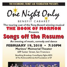 "One Night Only benefit cabaret with cast of ""Book of Mormon"""