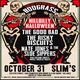 Boograss: Hillbilly Halloween with The Good Bad, The Risky Biscuits, Nate Jones & The Sloe Sippers