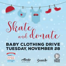 Giving Tuesday: *Skate & Donate* Baby Clothing Drive