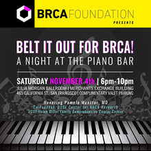 Belt It Out for BRCA... A Night at the Piano Bar