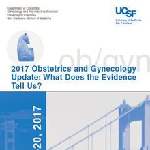Obstetrics and Gynecology Update CME: What Does the Evidence Tell Us?