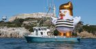 33-foot President Trump Chicken to Sail Around Alcatraz This Weekend