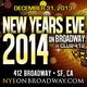 NEW YEARS EVE ON BROADWAY