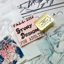 Cartoon Art Museum Visual Story Design for Adults