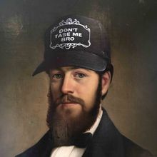 Don't Tase Me Bro - repurposed 19th Century portraits by Chas McFeely
