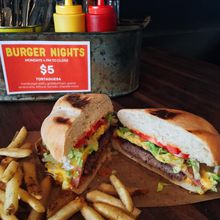$5 Tortaguesa/Burger Night at Bar San Pancho!