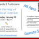Postcards 2 Politicians - An Evening of Political Activism